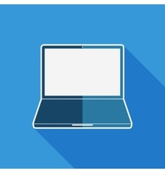 Laptop flat icon vector