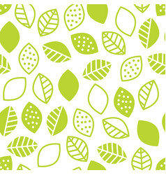 Lime leaves seamless pattern vector