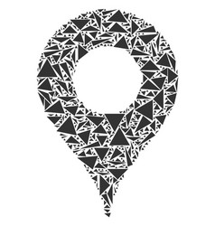 map pointer mosaic of triangles vector image
