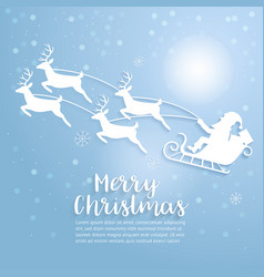merry christmas art vector image