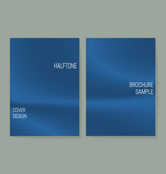 Minimalistic cover design templates with blue vector