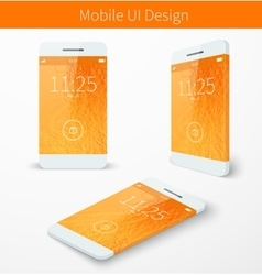 mobile user application interface concept vector image