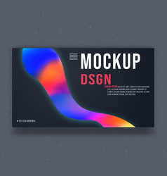 mockup background template mock up minimal design vector image