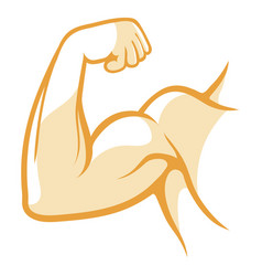 Muscle arm bent male strong man i can do it vector