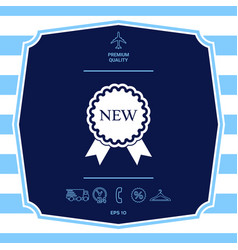 New offer icon with ribbons graphic elements for vector