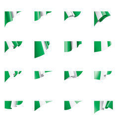 nigeria flag on a white vector image