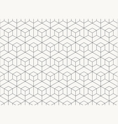 pattern hexagon design geometric black line of vector image