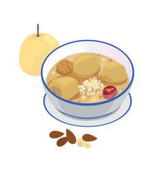 Pear soup vector