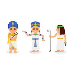 Pharaoh in nemes headdress as monarchs ancient vector