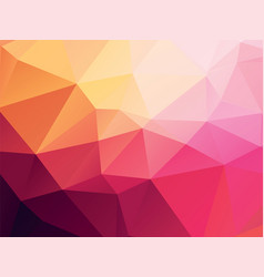 pink yellow geometric background vector image
