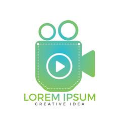 pocket video design vector image