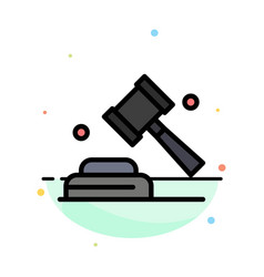 Politics law campaign vote abstract flat color vector