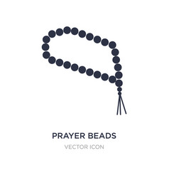 Prayer beads icon on white background simple vector