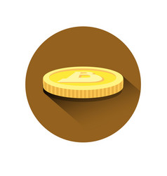 realistic golden bitcoin isometric icon modern web vector image