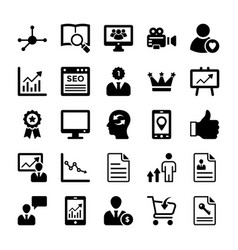 seo and digital marketing glyph icons 12 vector image