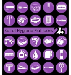 Set of hygiene icons vector image