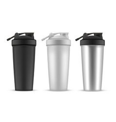 shaker realistic style set cup or container vector image