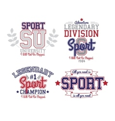 Sport Badge Set vector image