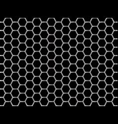 Steel chrome cells on black background vector
