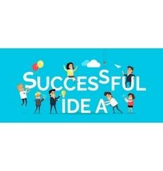 Successful Idea Banner Flat Design vector image