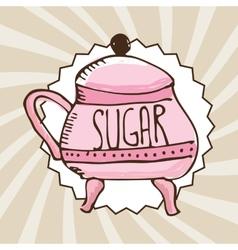 Sugar container vector