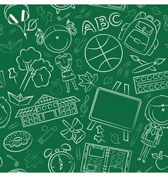 Teaching kids background vector image
