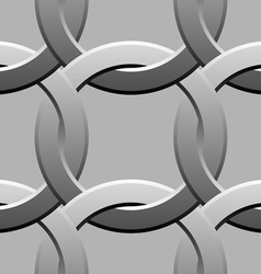 twisted rings seamless pattern vector image