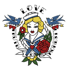 Vintage sailor tattoo vector