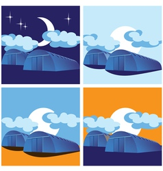 warehouses vector image vector image