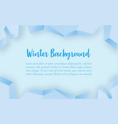 winter ice frame with blue background winter vector image