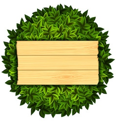 Wooden board Stock vector image