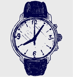 Wristwatch sketch vector image