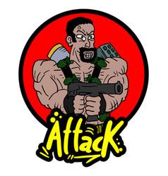 attack war icon vector image vector image