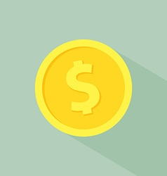 gold coin medal business market isolated with vector image vector image