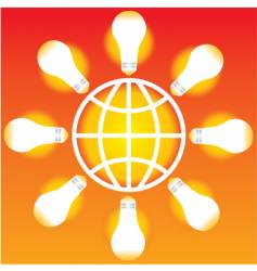 light bulb globe vector image vector image