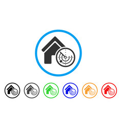 realty radar rounded icon vector image