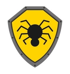 Security shield with spider isolated icon design vector