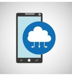 smartphone programming web cloud vector image