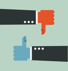 thumbs up and thumbs down vector image vector image