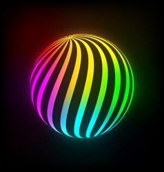Bright light ball vector image