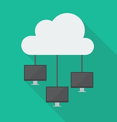 Cloud Computing Diagram Network vector image vector image