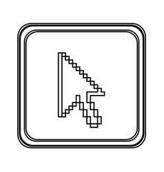figure emblem mouse cursor icon vector image