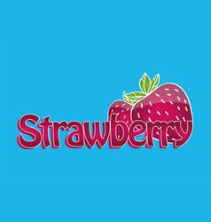 juicy strawberry logo vector image