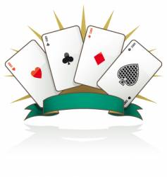 playing card Aces vector image vector image