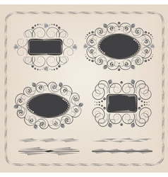 Set of calligraphy frames and brushes vector image