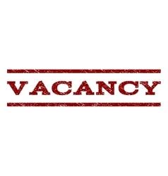 Vacancy Watermark Stamp vector image vector image