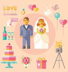 Wedding flat vector image vector image