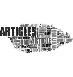 why should i submit articles to an article vector image