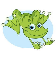 Happy Frog Hopping Frog vector image vector image