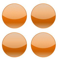 orange round icons vector image